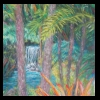 Tropical Waterfall Pastel, 2014